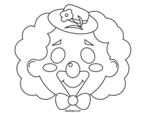 clown mask template clown mask template gallery template design ideas