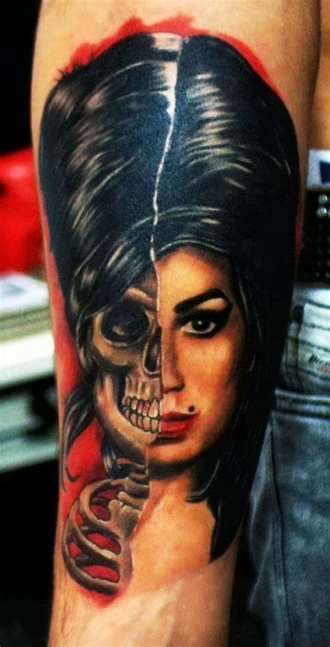 Amy Winehouse Tattoo By Re�at Gül  Tattoos & Piercings