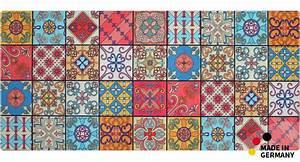Läufer 50 X 120 : k chenl ufer teppichl ufer marokko retro mosaik l ufer 50x120 cm waschbar kaufen matches21 ~ Indierocktalk.com Haus und Dekorationen