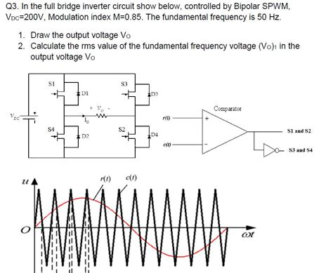 Solved The Full Bridge Inverter Circuit Show Below