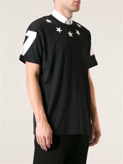 lyst givenchy star tshirt  black  men