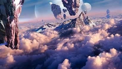 Fantasy Planet Floating Mountain Mountains Concept Artwork
