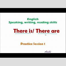 Grammar Practice Session  There Is There Are  Practice Session 1 Youtube