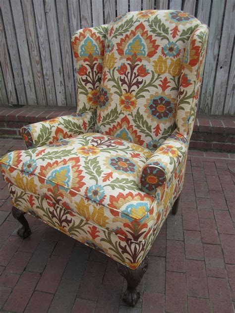 canape anglais furniture colorful patterned antique upholstery fabric