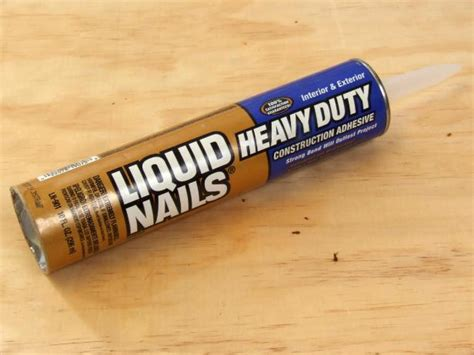 liquid nails stick and seal the basics of adhesives glue and caulk diy
