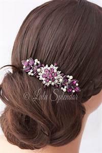 Amethyst Wedding Hair Comb Purple Rhinestone Wedding Hair