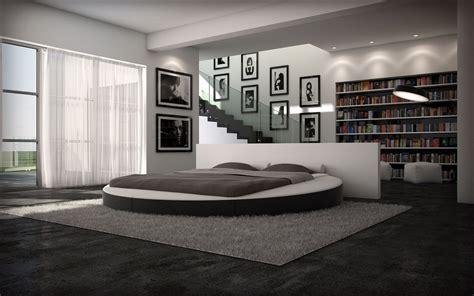 chambre lit rond un lit rond avec des formes harmonieuses décoration maison