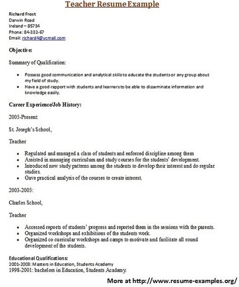 resume re entering workforce 28 images free sle