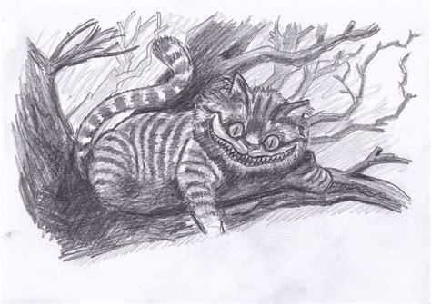 alice  wonderland pencil drawing cheshire cat alice