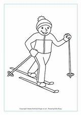 Skiing Country Cross Colouring Pages Winter Olympics Freestyle Crafts Coloring Olympic Sports Preschool Template Activityvillage Ski Printable Tel Outline Ice sketch template