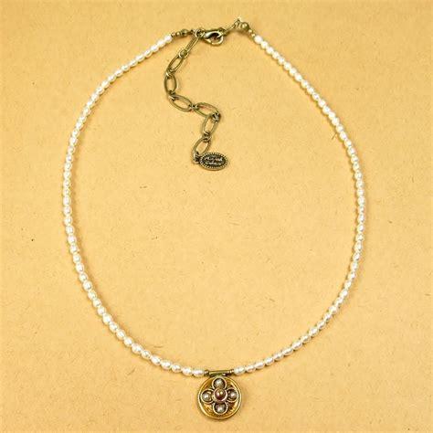 michal golan victorian pearl small  pendant