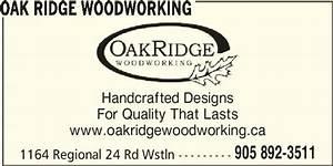 Oak Ridge Woodworking - Fenwick, ON - 1164 Regional 24 Rd
