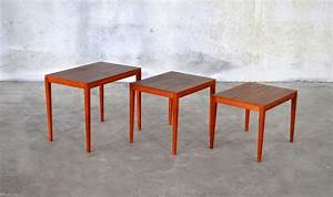 Select, Modern, Danish, Modern, Teak, Nesting, Tables, U0026, Side, Table