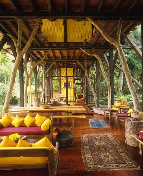 indonesian outdoor living space  traditional style