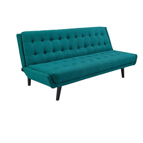 Teal Tufted Sofa by Glance Tufted Convertible Fabric Sofa Bed Teal