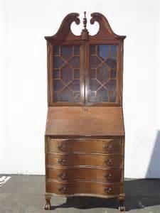 custom paint avail chippendale secretary hutch desk antique