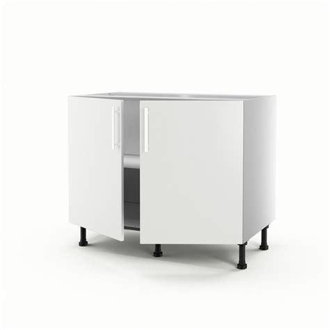 meuble cuisine 100 cm meuble de cuisine bas blanc 2 portes délice h 70 x l 100 x