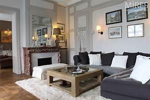 Salon Gris Blanc : salon gris blanc noir rouge ~ Dallasstarsshop.com Idées de Décoration