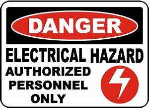 Electrical Hazard Labels, Electrical Hazard Stickers