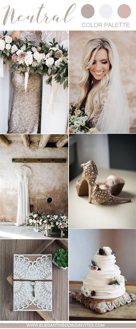 10 swoon worthy neutral wedding color palette ideas