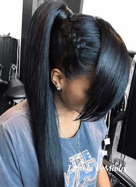 Black Ponytail Hairstyles by 30 Black Ponytail Hairstyles In 2019 Black