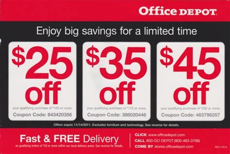Office Depot Coupon Code by Office Depot Printable Coupons September 2015 Printable