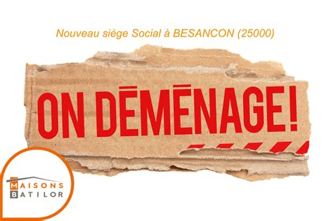 changement siege social sarl déménagement siège social batilor