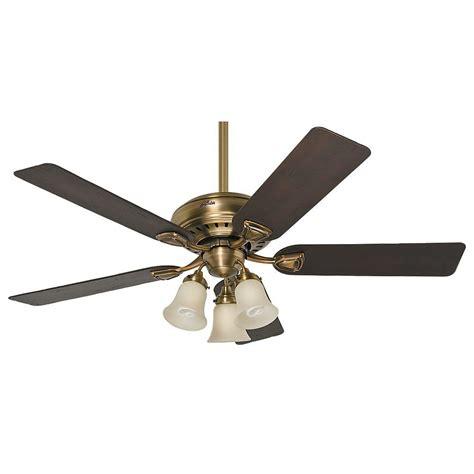 vintage hunter ceiling fans hunter bixby 46 in indoor antique brass ceiling fan 28791