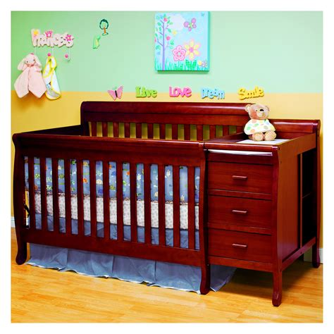 athena 3 in 1 convertible crib and changer combo