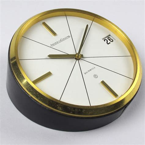 jaeger lecoultre table clock gilt brass jaeger lecoultre retailed by dunhill ref 383
