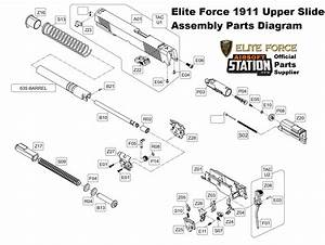Umarex Elite Force  Kwc 1911 A1  U0026 Tac Co2 Pistol Parts