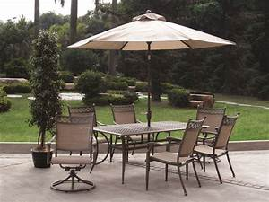 patio table chairs umbrella set elegant patio interesting With patio furniture from home depot