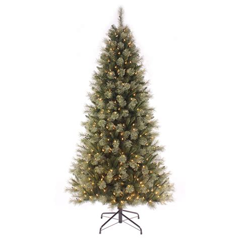 7ft pre lit christmas tree with warm white led lights artificial xmas decoration ebay