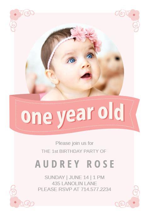 pink ribbon birthday invitation template