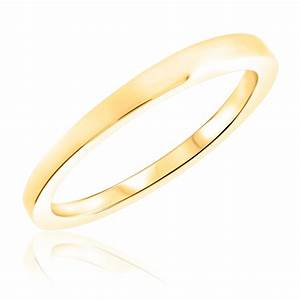 traditional ladies wedding band 14k yellow gold my trio With ladies wedding rings gold