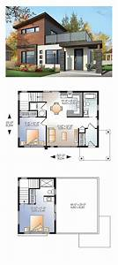 25 best small modern house plans ideas on pinterest With modern two bedroomed house plans