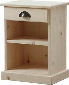 Table De Chevet Bois Brut : une table de chevet en bois choisir ou faire vous m me ~ Teatrodelosmanantiales.com Idées de Décoration