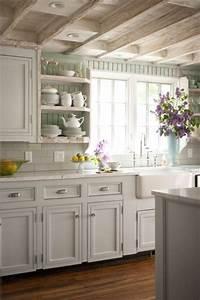 Painted Beadboard Backsplash - Cottage - kitchen - BHG