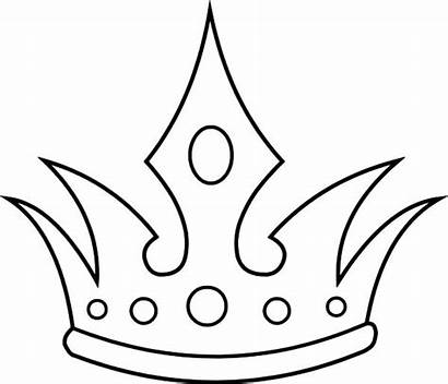 Crown Coloring Queen Pages Drawing King Drawings