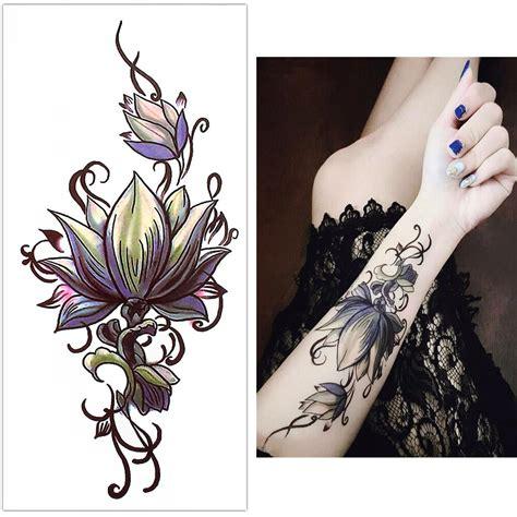 tatouage temporaire fleur orchidee kolawi