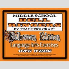 Middle School Ela Bell Ringers  Halloween  Language, Art And Language Arts