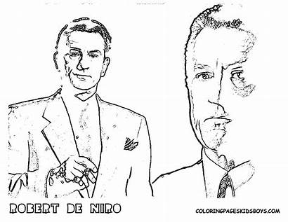 Coloring Robert Niro Star Pages Famous Hollywood