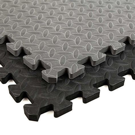Get Rung Fitness Mat with Interlocking Foam Tiles for Gym