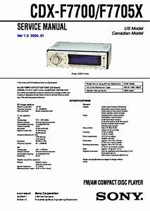 Sony Cdx-f7700  Cdx-f7705x Service Manual