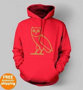 OVO Drake October's very own owl Hoodie OVOxo red hooded ...