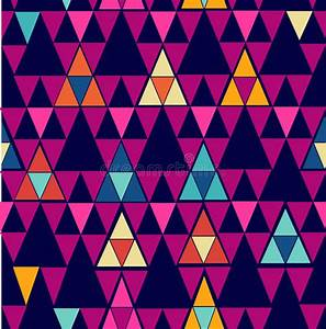 Trendy Vintage Hipster Geometric Seamless Pattern. Royalty ...
