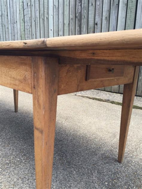 bleached oak dining table bleached oak double drawer leaf antique farm table