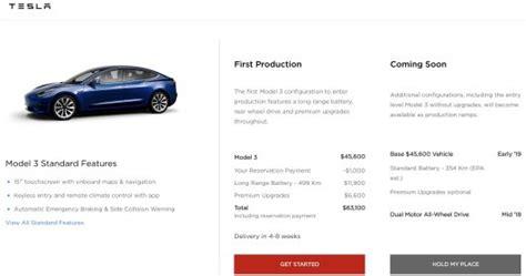 Get Tesla 3 All Wheel Drive Price Canada Gif