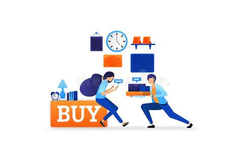 electronic commerce delivery  goods stock illustration