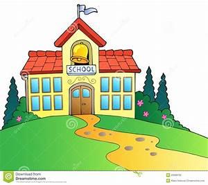 Cartoon School Building Clipart - Clipart Suggest